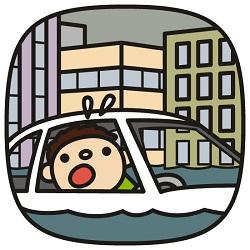 ゲリラ豪雨と保険