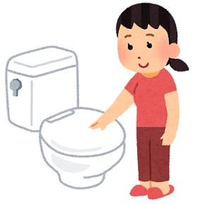 トイレのフタをしめよう